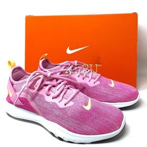 Nike Flex Trainer 9 Pink Rise Canvas Women Sneaker